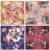 Top Quality Printed Silk Twill Scarf for Women (F-001)