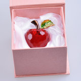 Beautiful Crystal Glass Apple Crafts for Paperweight Gift