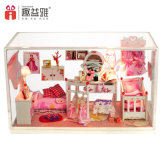 Handmade Mini Wooden Doll House Model with Dresser