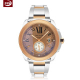 Waterproof Large Dial Stainless Steel Quartz Wristwatch for Ladies