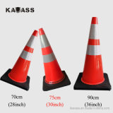 30inches 750mm PVC Plastic Soft Reflective Flexible Road Street Safety Warning Traffic Cones