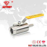 Stainless Steel One Side Hose Nipple 1PC Ball Valve