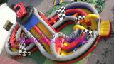 Spiral Amusement Inflatable Park, Giant Inflatable Fun City Amusement Park