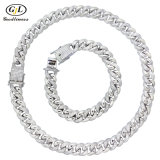 925 Silver Custom Diamond Jewelry Jewellery Bracelet Necklace Cubic Zirconia Cuba Chain Fashion Jewelry
