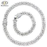 925 Silver Jewellery Bracelet Necklace CZ Cuba Chain Fashion Jewelry