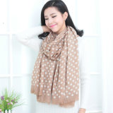 Screen Printed Wool Scarf for Women