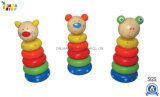 Intellectual Educational Baby Toys for Kids Gift, 22240 Lindatoy Wooden Stacking Tower