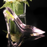 Beautiful Handmade Pink Crystal Shoes for Wedding Gifts
