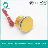 Ws165f1nom IP68 16mm Gold Anodized Flat Operator Flyingleads 200mA 24VAC/DC Normally Open Momentary Piezo Switch