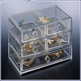 New Design Low Acrylic Price Jewelry Box with 5 Drawers