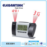 Automatic LCD Digital Weather Station Projection Clock with Projector