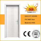 Top Sale PVC Toilet Door PVC Bathroom Door Price (SC-P050)