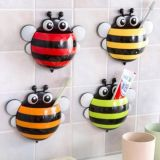 Plastic Suction Cup Colorful Cartoon Cute Bee Shape Toothbrush Holder