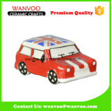 UK Hand Painted Cartoon Car Made of Porcelain