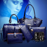 Top Quality Set Bags Crocodile Pattern 6PCS Fashion Handbag (XM060)