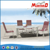 Garden Open-Air Hotel Villa Resort Furniture Aluminum Metal Teak Plank Wooden Chair