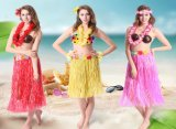 Hawaiian Hula Dance Costume Ballet Performance Flower Garland Children Adults Birthday Tropical Costume Party, Events, Celebrate Decoration Dress Skirts Cosplay