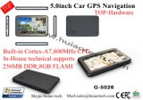 "Top 5.0"" Car Truck Wince GPS Navigator with Bluetooth Tmc Receiver AV-in for Rearview Camer"