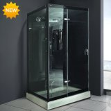 New Black 6mm Tempered Glass Steam Shower Room M-8290