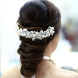 White Pearl Crystal Bride Headdress Hair