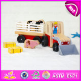 2015 Good Price Wooden Toy Car for Kid, High Quality Children Wooden Farm Car Toy, Cartoon Toy Baby Farm Car Toy Wholesale W04A146