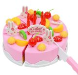 Cut Fruit Cake Cutlery Children Play House Toy Girl Simulation Birthday Cake DIY Toy
