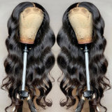 Wholesale Price 4X4 Body Wave & Straight Lace Closure Wig Pre Plucked with Baby Hair Cuticle Aligned Raw Virgin Human Hair Wigs