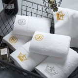 Wholesale 100% Cotton Dobby Design Custom Logo Embroidered Bath Towel