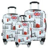 Wholesale OEM Custom Hard Case Trolley Travel Suitcase Printed ABS Luggage