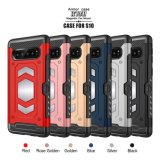Wholesale Price Phone Assessories/ Hybrid PC+TPU Mobile Phone Cover Case for iPhone 6s/6sp/7g/7p/8g/8p/X/Xr/Xs/Xs Max with Magnet and Card Holder