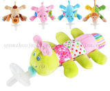 OEM Silicone Baby Plush Doll Toy with Soother Pacifier