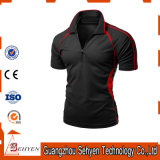 China Factory Fashion Dry-Fit Elastic Black Polo Tshirt for Men