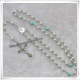 Glass Rosary Beads Necklace Handcrafted Catholic Rosary Beads (IO-cr296)