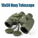 10X50 Navy Binoculars with Rangefinder Compass Reticle Illuminant Hunting