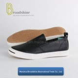 Classical PU Slip-on Casual Men′s Footwear with Vulcanized Outsole