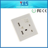 Double 13A Wall Socket with Switch British Standard