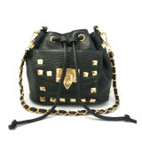 Fashion High Quality Retro Punk Hardware Rivet Drawstring Bag