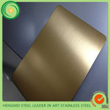 304 Stainless Steel Sheet Gold Colored Painting Hairline Satin Color Metal for Decoration Panel