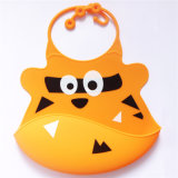 Wholesales FDA Material Food Grade Silicone Baby Bibs with Catcher