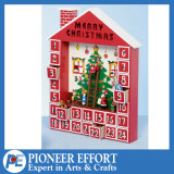 Wooden Advent Calendar with 24 Drawers for Christmas Gift
