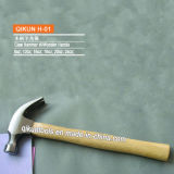 H-09 Steel Handle Incorporated Claw Hammer