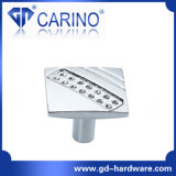 (GDC2571) Transparent Diamond Shape Crystal Glass Cabinet Knob