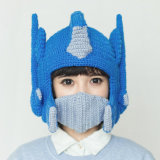Funny Transformer Handmade Knitting Knitted Winter Hat