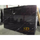 Chinese Cheap Black Marble Nero Marquina Marble Tiles 600X600 for Floor