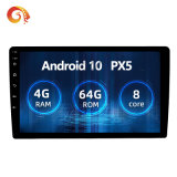 Car Android 10 Radio Multimedia Player Px5 4G+64G Octa Core GPS Navigation IPS DSP Tda 7851 Carplay