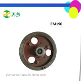 Diesel Engine Parts Emei Brand Em190 Cast Iron Flywheel