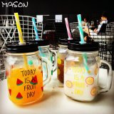 Free Sample Festival Use 16oz Mason Glass Jar /Drinking Glass with Lid