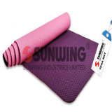 Outdoor Embossed Anti Slip TPE Flower Non-Toxic Yoga Mat