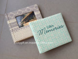 High Quality Embroidery Fabric Photo Album Printed Paper Photo Album with Window