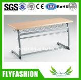 Classroom Furniture Wood Student Double Desk with Chair
